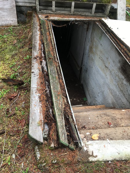Rotted hatchway.