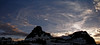 Logan Pass -Last Light on Clements Mtn+Mt Oberlin_vPanorama01 x2