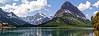 Allen Mtn behind Many Glacier Lodge on Swiftcurrent Lake
