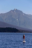 Paddle Boarder on Lake McDonald