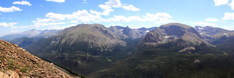 Forest Canyon & Gore Range, Looking up Hayden Gorge to the Spires