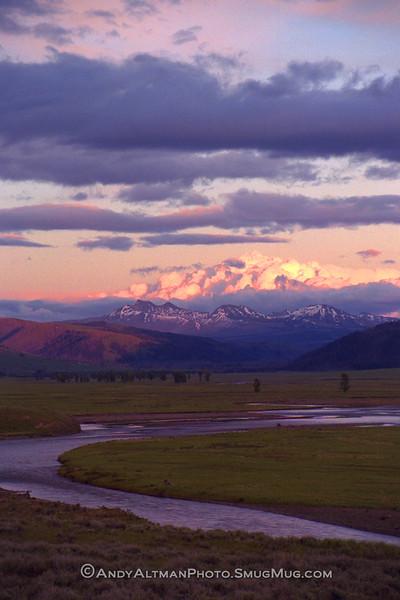 Lamar Valley Sunset, Yellowstone NP