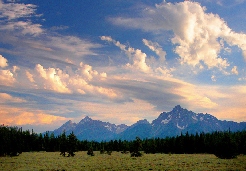 Storm Clearing Over Tetons. Teton Yellowstone National Park, Wyoming.