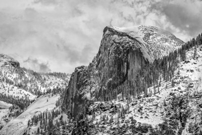 Half Dome Under Fresh Snow