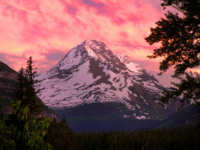 Mt. Reynolds Sunset, Glacier National Park, Montana.