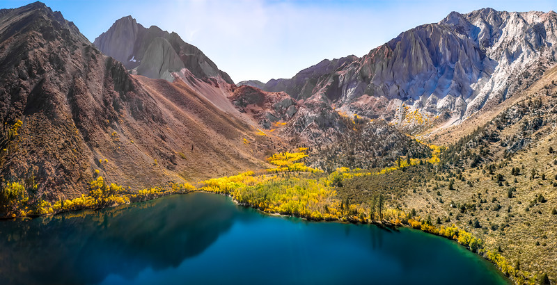 Convict Lake Drone Panorama