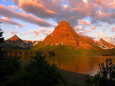 """Two Medicine Sunrise"" Two Medicine Lake Campground, Glacier National Park. Montana."