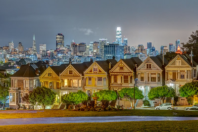 Night View From Alamo Square Park