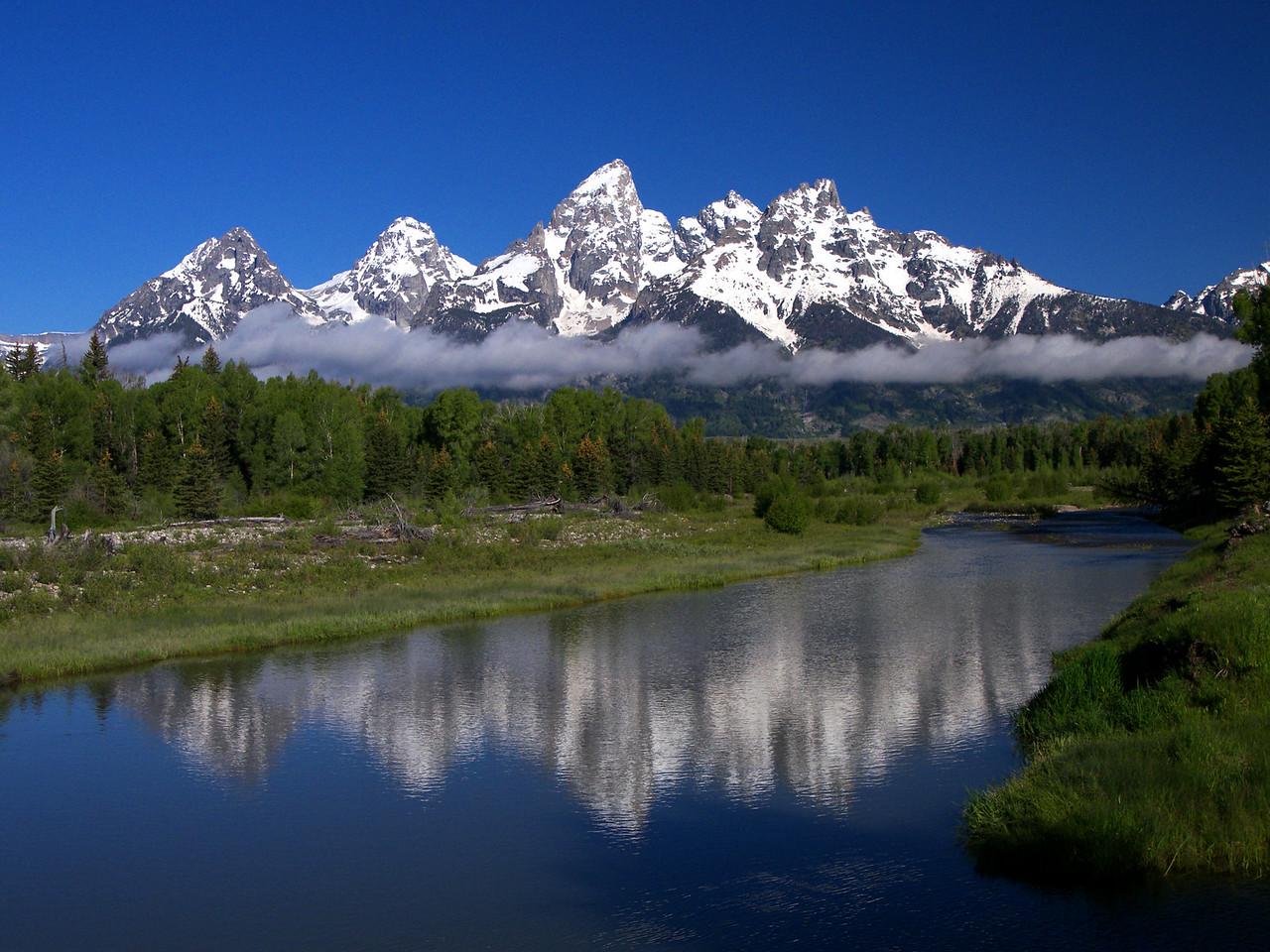 """Grand Tetons Morning"" Grand Teton Yellowstone National Park, Wyoming."