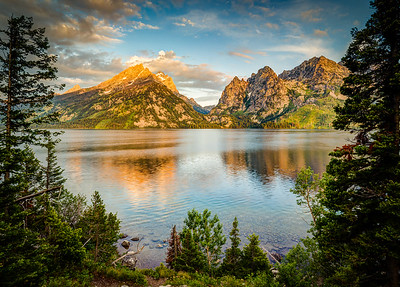 Golden Sunrise at Jenny Lake