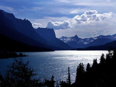 A St. Marys Lake Afternoon. Glacier National Park, Montana.