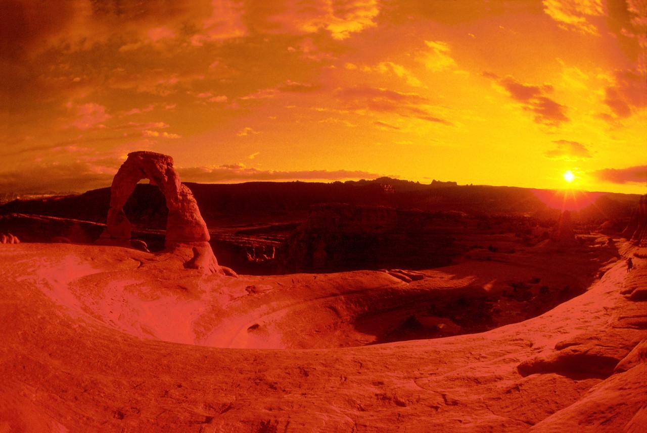 """Delicate Arch Evening"" Arches National Park, Southwest Utah."