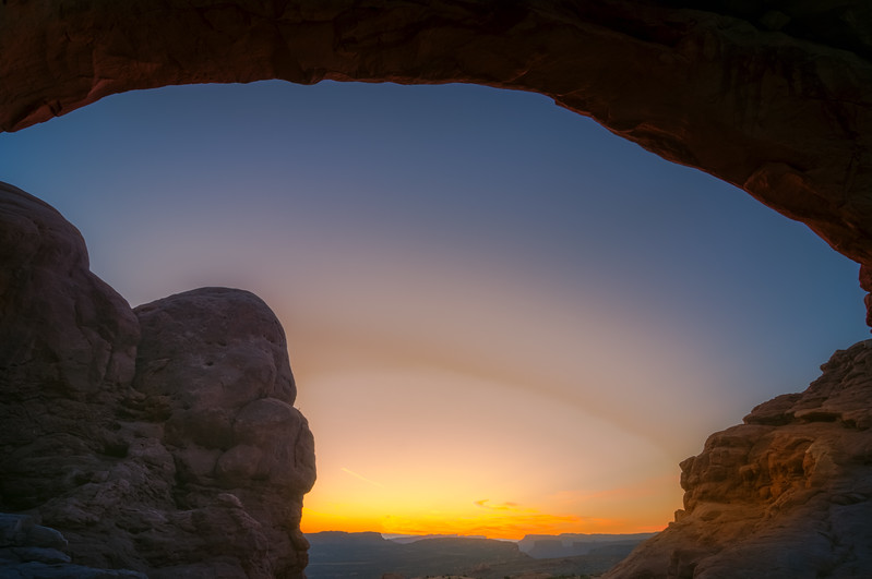 Window Arch Sunrise