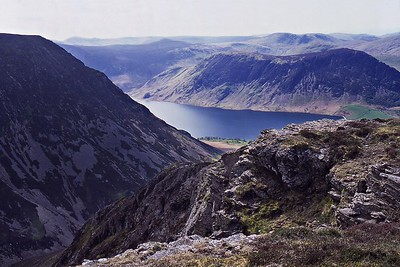 Mellbreak and Crummock Water from Whiteside