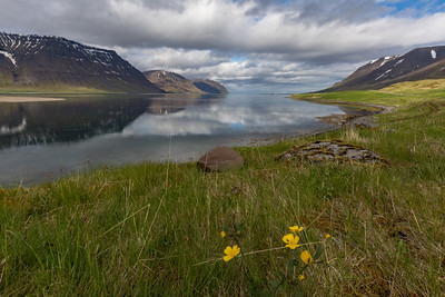 Dramatic views of clouds and sky are frequent in the Westfjords