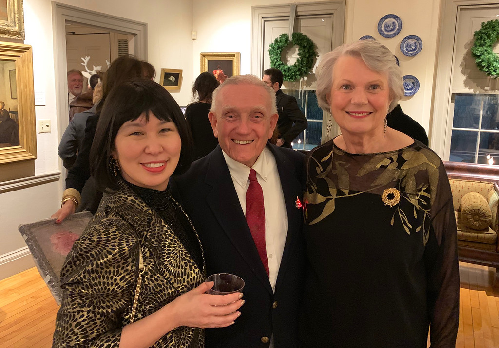 . From left, Whistler House trustee Carrie Meikle of Chelmsford, and Secretary Frank Makarewicz and Vice President Therese O�Conner, both of Lowell