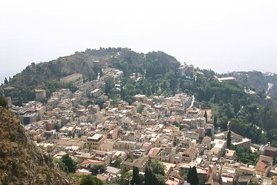 Taormina, from Mt Tauro