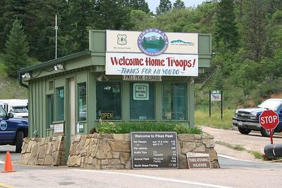 Pikes Peak toll gate
