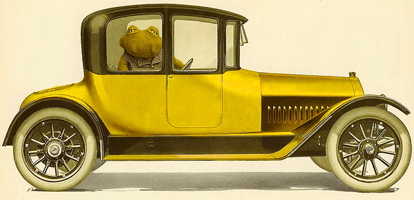 Mr. Toad in his car.