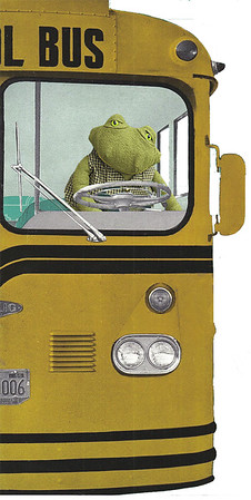 Toad drives the school bus.