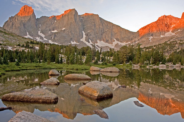 Sunrise in the Cirque along the shores of Lonesome Lake...suffice to say this is a place of incredibly natural beauty!