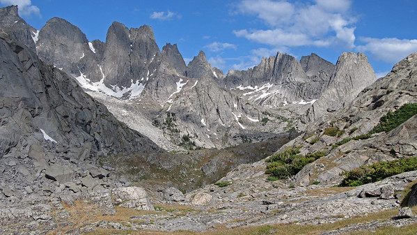 Looking at the Cirque from Jackass Pass.....pretty imposing place!