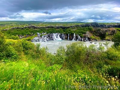 Incredible Hraunfossar falls