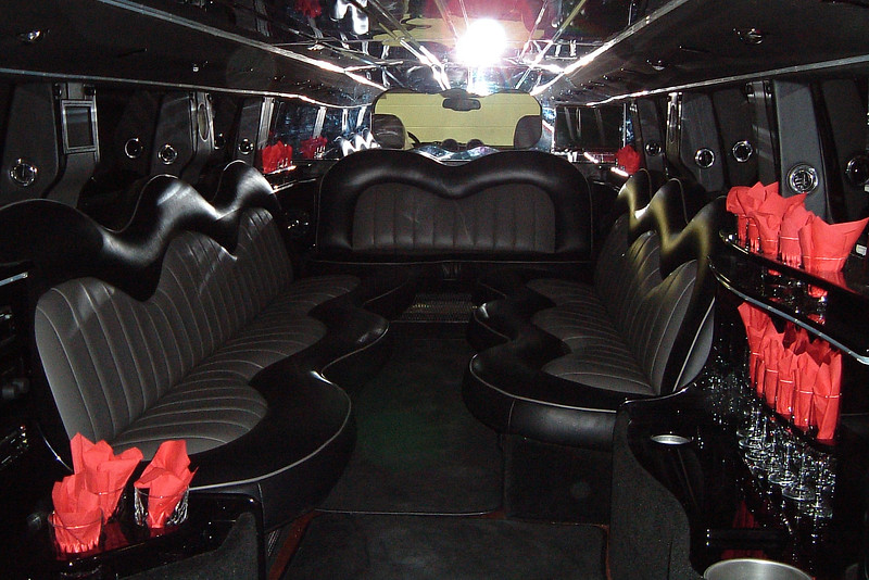 This inside of this limo was quite impressive !
