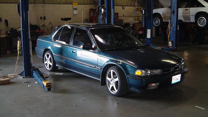 Technician Shaun's Honda Accord.