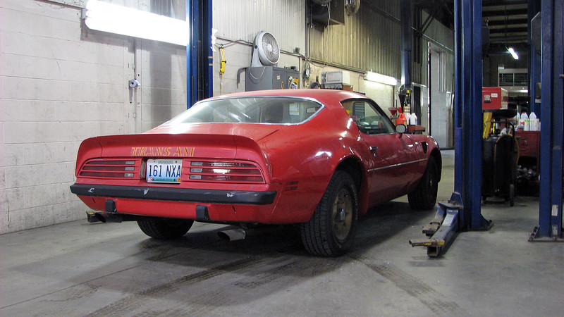 The 1974 Pontiac Trans Am seen in the photo above belonged to one of the sales people, Gus.