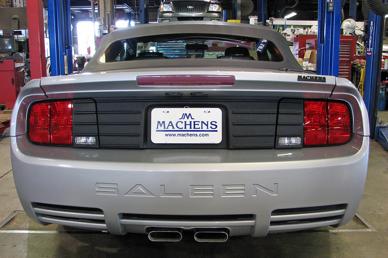 This car is a 2005 Saleen S281 3-Valve convertible.