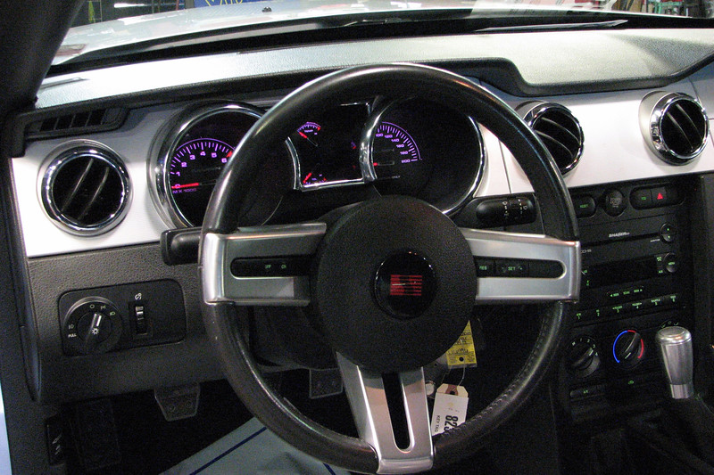 Saleen also tweaked the interior of the Mustang with special gauges, (including a 200 mph speedometer), upgraded seating and interior trim, and a special shifter.