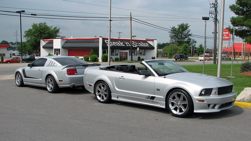When I arrived at work the following day, the Saleen had taken its place on the front line next to another rare Mustang, a 2007 Roush 427R coupe.