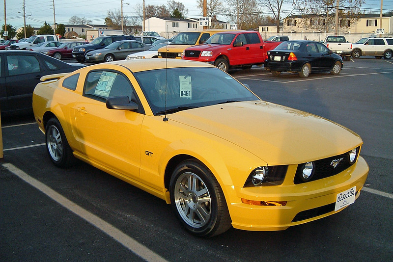 The Ford Mustang was being completely redesigned for the 2005 model year.  After 11 model years, (1994 - 2004), of the fourth generation SN95 platform, (which itself was an updated version of the Ford Fox platform from 1978), the fifth generation Mustang would be styled in the mold of the first generation cars, (1964 - 1973).  This was big news at the time.  On this day, we took our first delivery of what would be many new Mustangs that would pass through our doors.