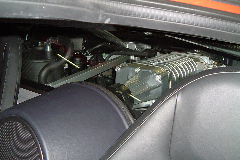 Supercharged 5.4L V8 that makes 550 hp.