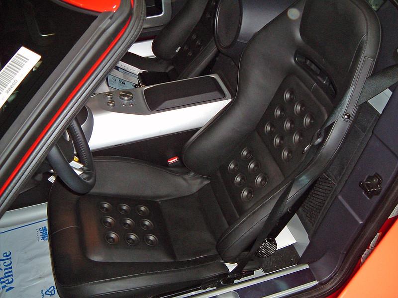 Racing style bucket seats.