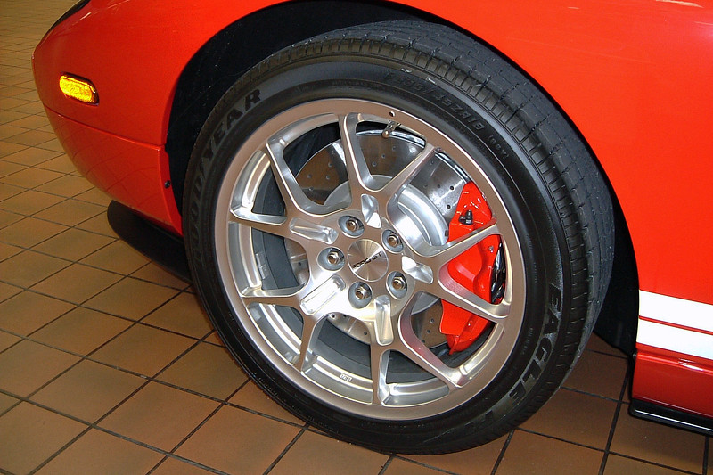 "Has 18"" wheels in front."
