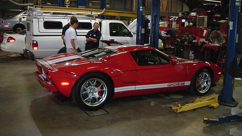 New 2005 Ford GT in the shop.