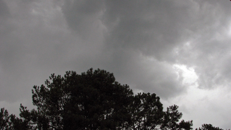 It got darker, and clouds rolled in.