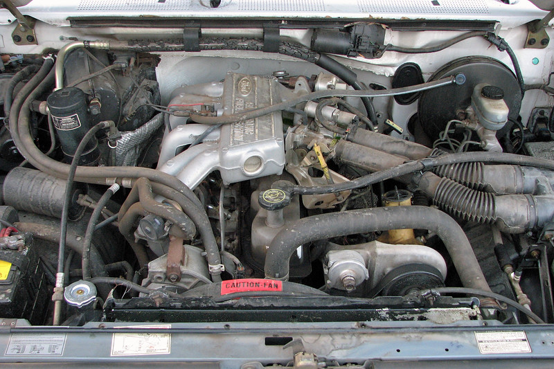This older Ford F150 was towed in for an overheating concern.