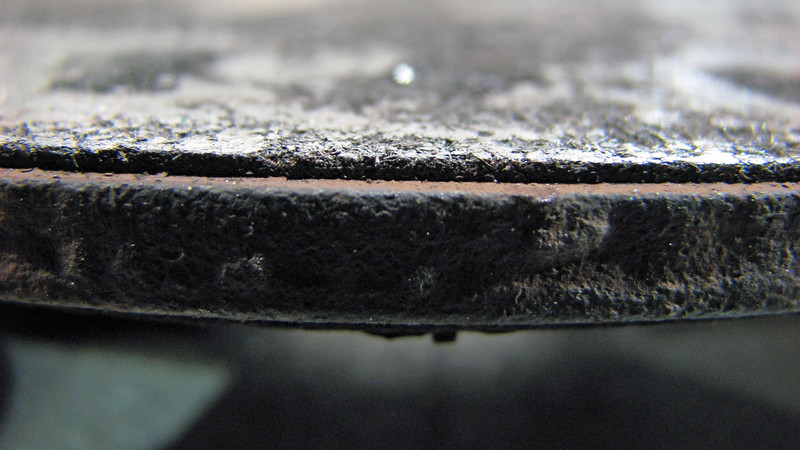 With this little braking material remaining, heat can play more of a significant role.
