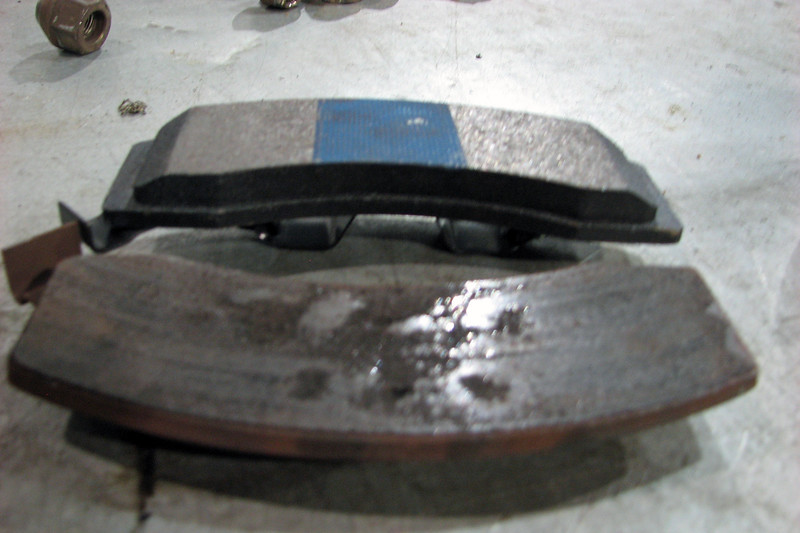 The new brake pads were quite a bit thicker.