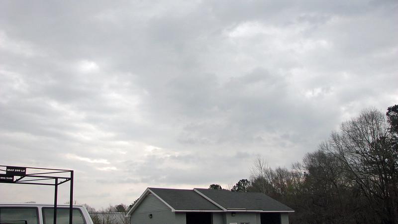 Cloudy skies at 5:30 pm