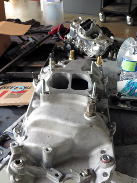 Recently, A. J. pulled the carb and manifold back off the truck.