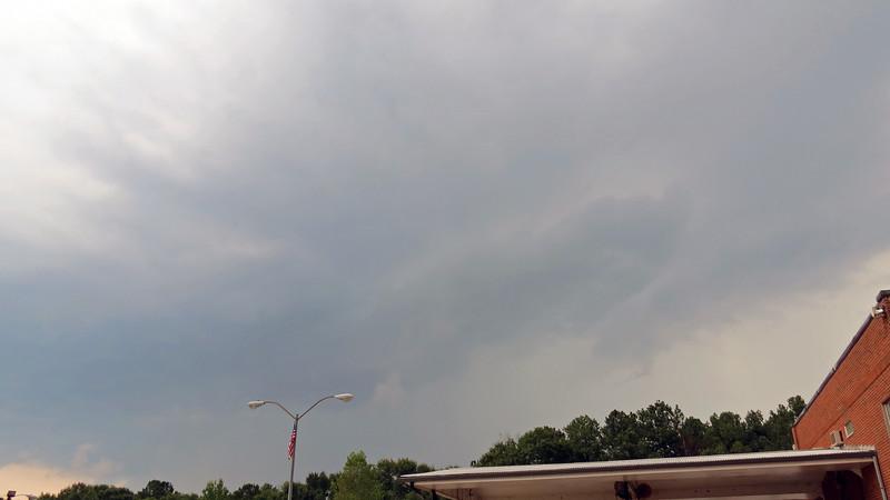 Despite the rumbling of thunder, it never did rain.