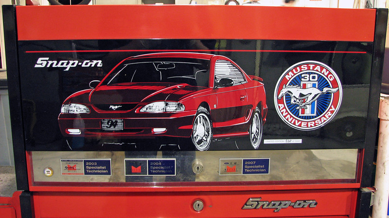 The top chest commemorates the Ford Mustang's 30th Anniversary in 1994.  Only 5,000 were produced with this one being number 720.