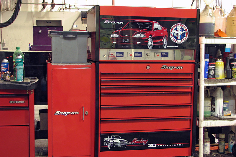 My tool box setup is a Snap-On three-piece combination box that I bought from a friend of mine back in 2000, right before I graduated from tech school.