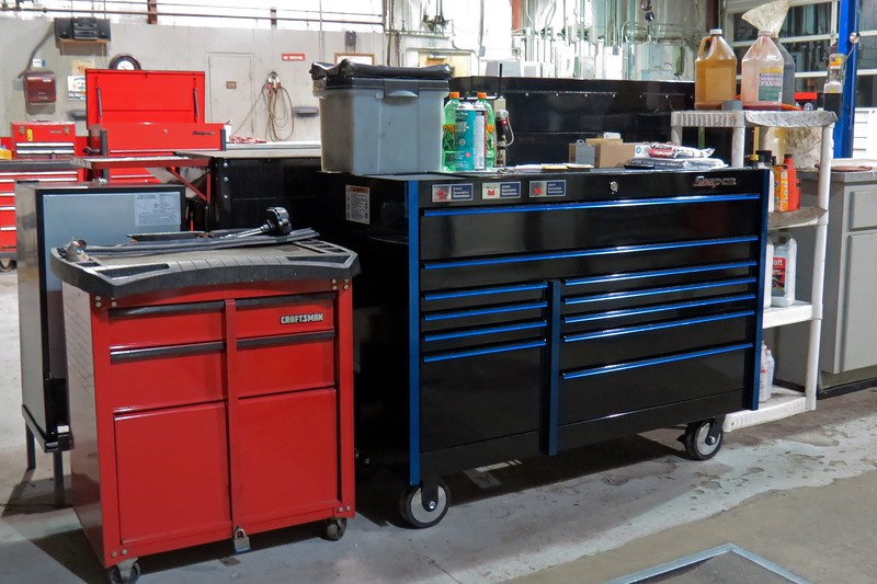 Plus, I also have a roll cart that houses the tools I use most often that I can wheel around the shop as necessary.