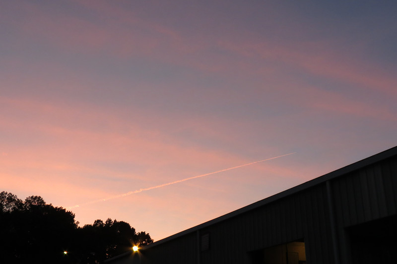 While tracking the jets with the camera, I couldn't help but notice the beautiful colors in the sky.