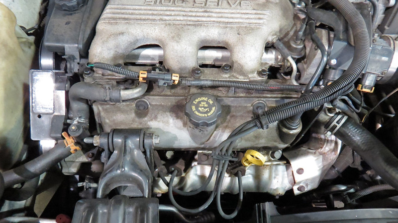 My project for today was to replace the intake manifold gasket on this Buick Century station wagon.
